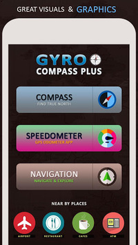 Gyro Compass App for Android: True North Direction pc screenshot 1