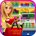 Supermarket Grocery Store Girl - Cashier Games for pc logo