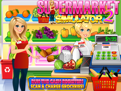 Supermarket Grocery Store Girl - Cashier Games pc screenshot 1