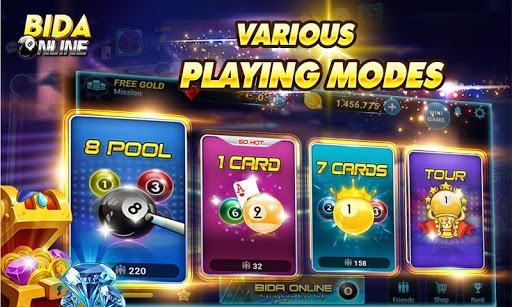 Bida Online: 8 Pool Ball, Billiard Online, 7 Card pc screenshot 1
