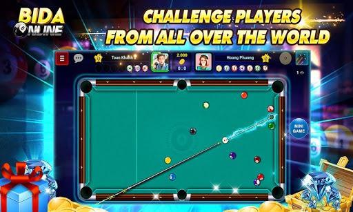 Bida Online: 8 Pool Ball, Billiard Online, 7 Card pc screenshot 2