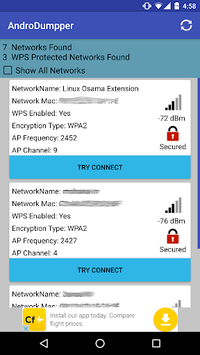 AndroDumpper Wifi ( WPS Connect ) pc screenshot 1