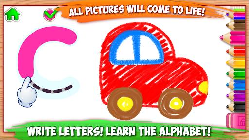 ABC DRAW! Alphabet games Preschool! Kids DRAWING 2 pc screenshot 1