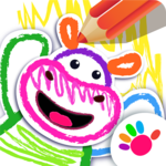 Bini DRAW & DANCE! Painting Toddler Coloring Apps for pc logo