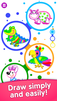 Bini DRAW & DANCE! Painting Toddler Coloring Apps pc screenshot 1