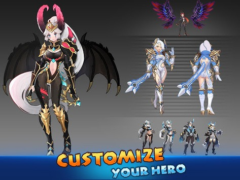 Blade & Wings: Future Fantasy 3D Anime MMORPG Game pc screenshot 1