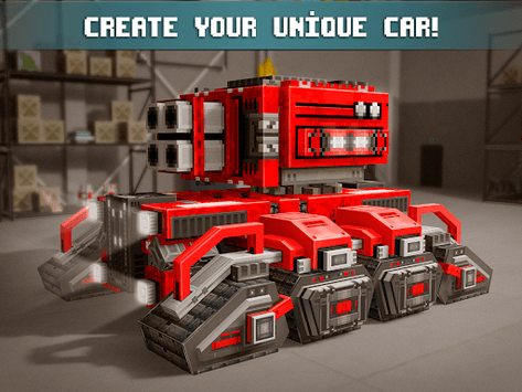 Blocky Cars - Online Shooting Game pc screenshot 1