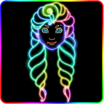 Glowii: Easy Neon Doodle Drawing for pc logo