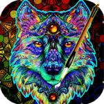 Coloring Book For Adults Free - ColorWolf icon