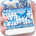 Blue Butterfly Keyboard Theme Baby's Breath Flower icon