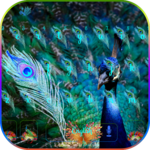 Blue peacock Keyboard Theme icon