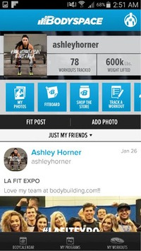 BodySpace - Social Fitness App pc screenshot 1