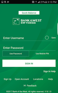 Bank of the West Mobile pc screenshot 1