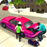 New York Taxi Duty Driver: Pink Taxi Games 2018 icon