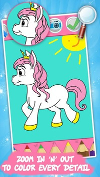 Unicorn coloring book for kids pc screenshot 1