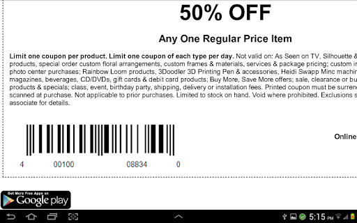 Coupons for Michaels pc screenshot 1