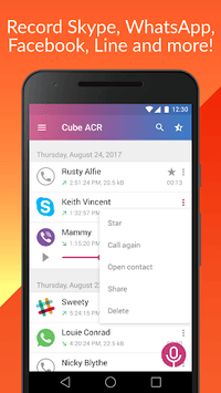 Cube Call Recorder ACR pc screenshot 1