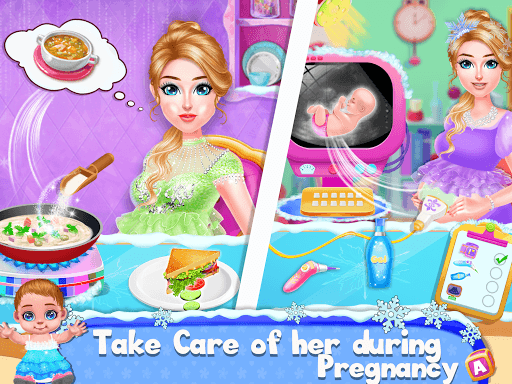 Ice Princess Pregnant Mom and Baby Care Games pc screenshot 1