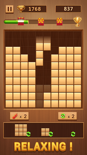 Wood Block - Classic Block Puzzle Game PC screenshot 1