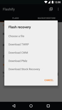 Flashify (for root users) pc screenshot 1