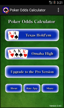 Poker Odds Calculator pc screenshot 1