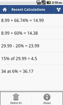 Percent Calculator pc screenshot 1