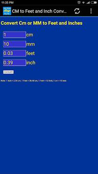 cm, mm to inch, feet converter tool pc screenshot 1