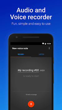 Easy Voice Recorder pc screenshot 1