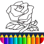 Valentines love coloring book icon