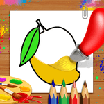 Fruits Coloring Book & Drawing Book - Kids Game icon