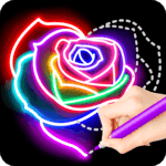 Learn To Draw Glow Flower for pc logo