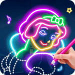 Learn To Draw Glow Princess for pc logo