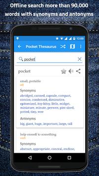 Pocket Thesaurus pc screenshot 1