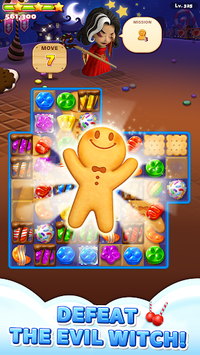Sweet Road: Cookie Rescue Free Match 3 Puzzle Game pc screenshot 1