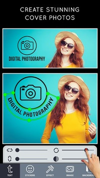 Cover Photo Maker - Banners & Thumbnails Designer pc screenshot 1