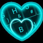 Live Neon Blue Heart Keyboard Theme icon