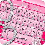 Pink Sparkling Diamond Princess Keyboard Theme icon