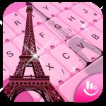 Pink Girl Eiffel Tower Keyboard Theme icon