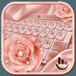 Pink Rose Gold Diamond Drops Keyboard Theme icon