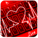 Live 3D Red Neon Heart Keyboard Theme icon