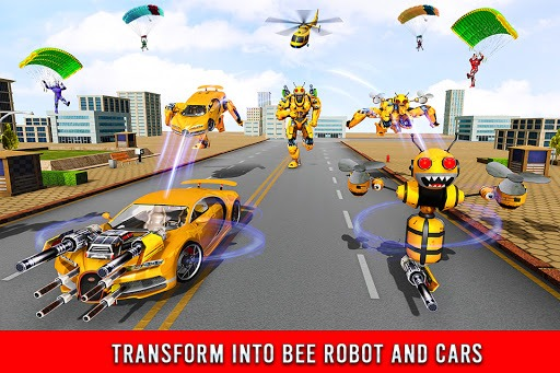 Bee Robot Car Transformation Game: Robot Car Games pc screenshot 1