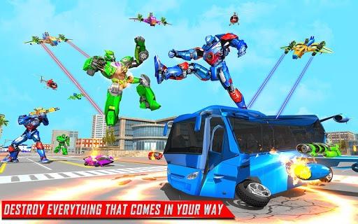 Flying Bus Robot Transform War- Police Robot Games PC screenshot 2