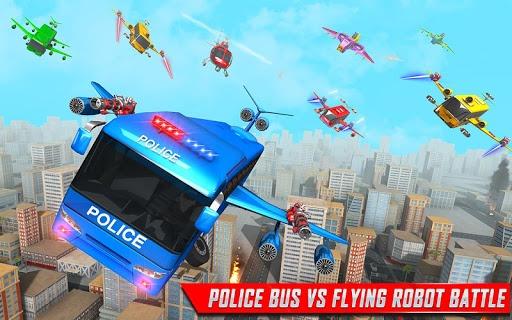 Flying Bus Robot Transform War- Police Robot Games PC screenshot 3