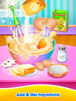 Unicorn Food - Sweet Rainbow Cake Desserts Bakery pc screenshot 1