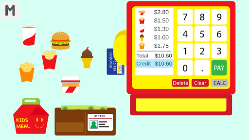 Kids Burger Cash Register pc screenshot 2