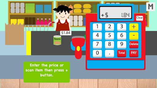 Kids Cash Register Grocery Free pc screenshot 2