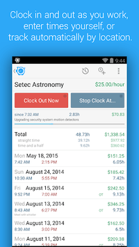 HoursTracker: Time tracking for hourly work pc screenshot 1