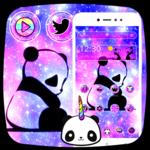 Cute Panda Galaxy Theme icon