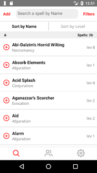 Spell List D&D 5th Edition pc screenshot 1