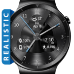 Black Metal HD Watch Face Widget & Live Wallpaper icon